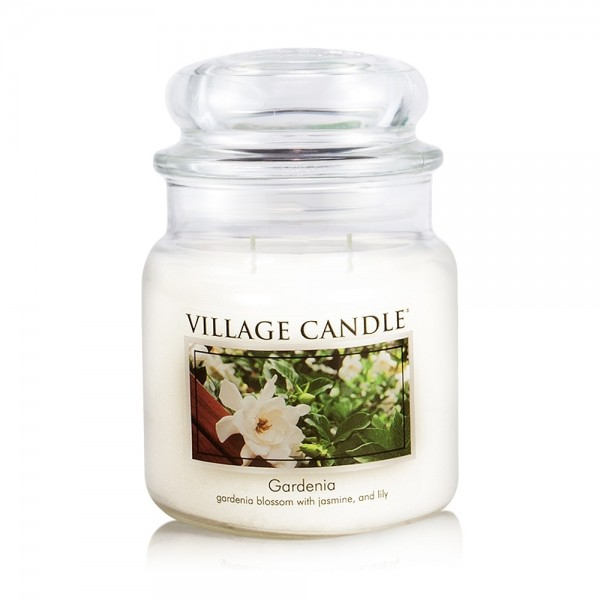 Gardenia 16 oz Glas (2-Docht) Village Candle