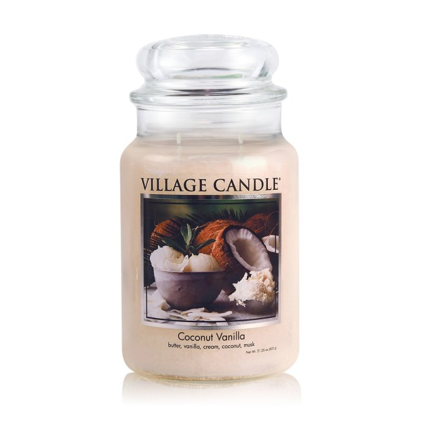 Coconut Vanilla 26 oz Glas (2-Docht) Village Candl