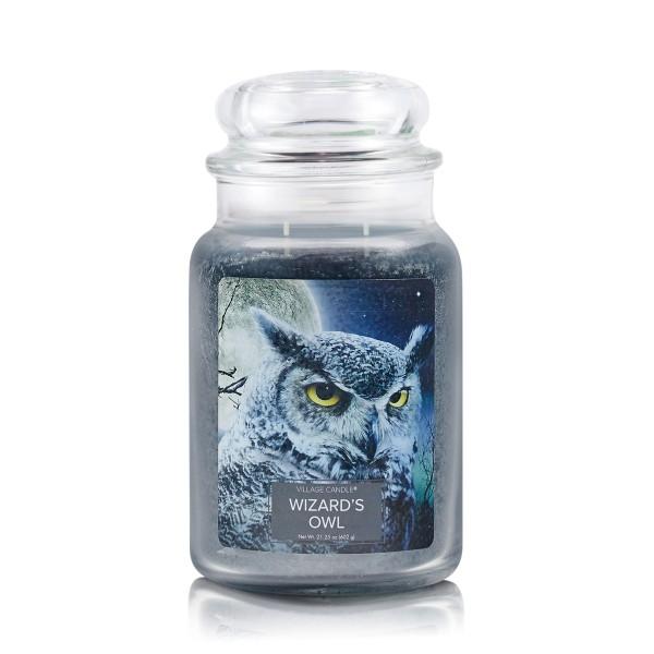 Wizard`s Owl 26 oz Glas (2-Docht) Village Candle