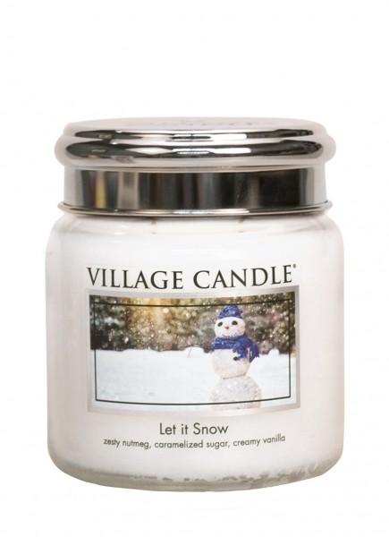 Let it Snow 16 oz Glas (2-Docht)