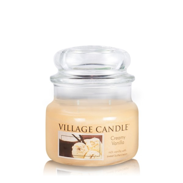 Creamy Vanilla 11 oz Glas (2-Docht) Village Candle