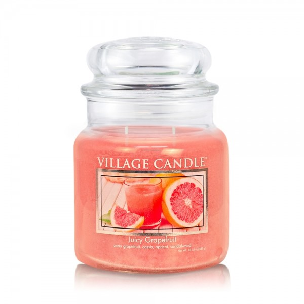 Juicy Grapefruit 16 oz Glas (2-Docht) Village Cand