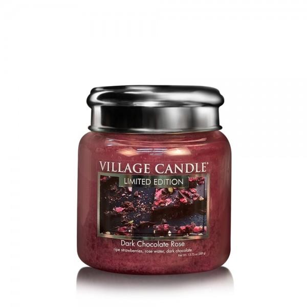 Dark Chocolate Rose 16 oz LE Glas (2-Docht) Villag