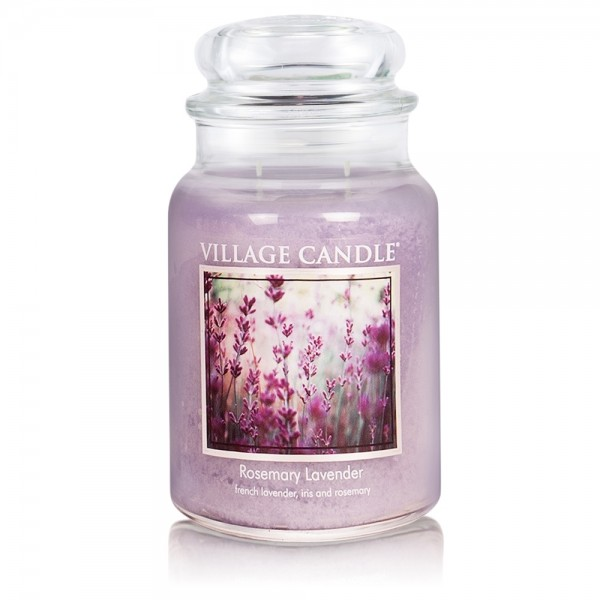 Rosemary Lavender 26 oz Glas (2-Docht) Village Can