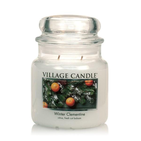 Winter Clementine 16 oz Glas (2-Docht) Village Can
