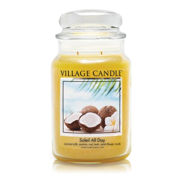 Soleil All Day 26 oz Glas (2-Docht) Village Candle