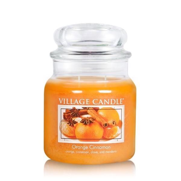 Orange & Cinnamon 16 oz Glas (2-Docht) Village Can