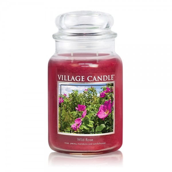 Wild Rose 26 oz Glas (2-Docht) Village Candle