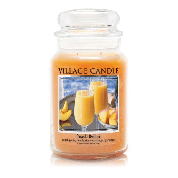Peach Bellini 26 oz Glas (2-Docht) Village Candle