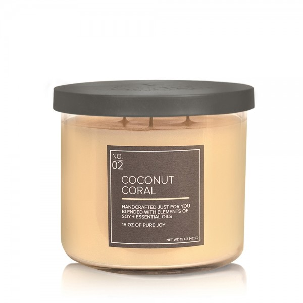 Coconut Coral 17 OZ Glas Soja Kerze VC (3-Docht)