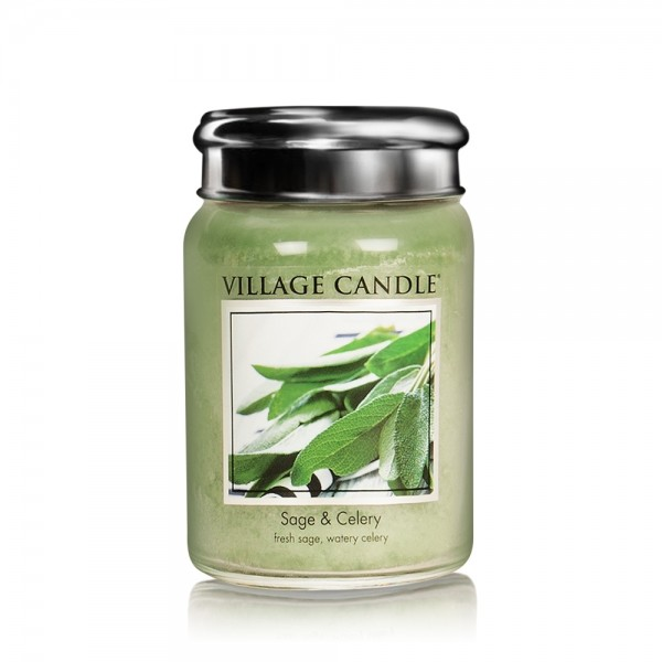 Sage & Celery 26oz 2-Docht Village Candle