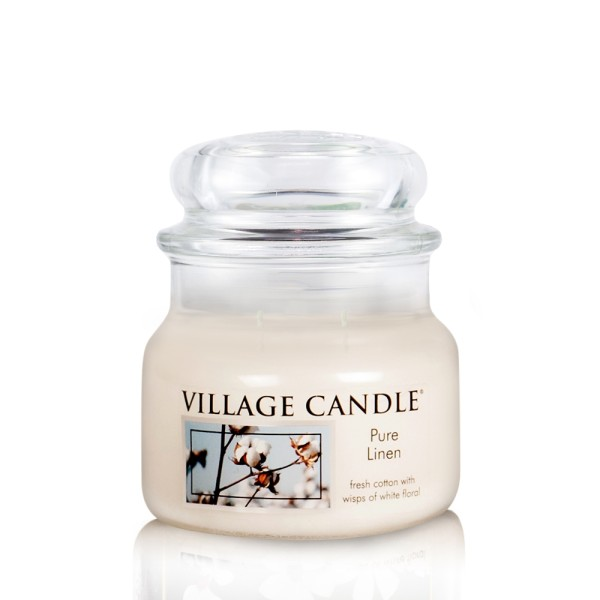 Pure Linen 11 oz Glas (2-Docht) Village Candle