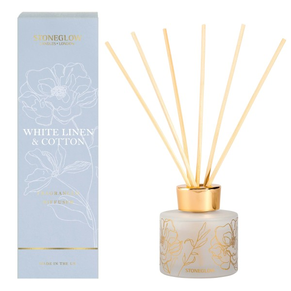 Day Flower White Linen & Cotton Reed Diffuser 120m