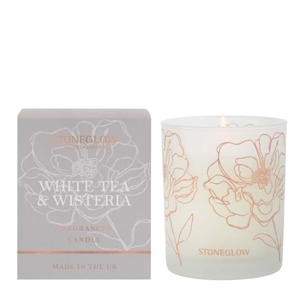 Day Flower White Tea & Wisteria Dufkerze 180g Ston