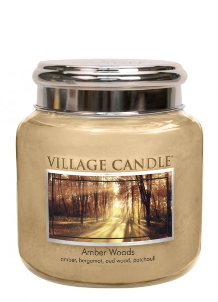 Amber Woods 16oz 2-Docht Village Candle