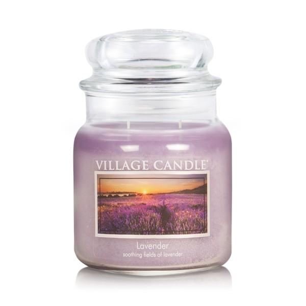 Lavender 16 oz Glas (2-Docht) Village Candle