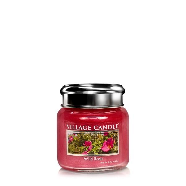 Wild Rose 3.75 oz Glas Village Candle