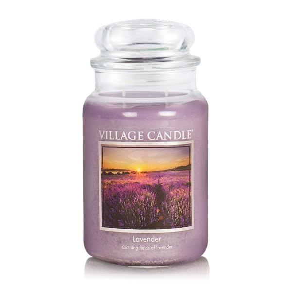 Lavender 26 oz Glas (2-Docht) Village Candle
