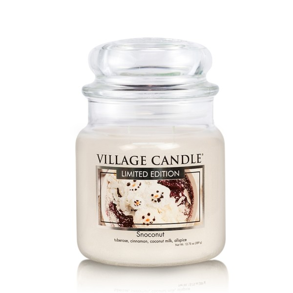 Snoconut 16 oz LE Glas (2-Docht) Village Candle