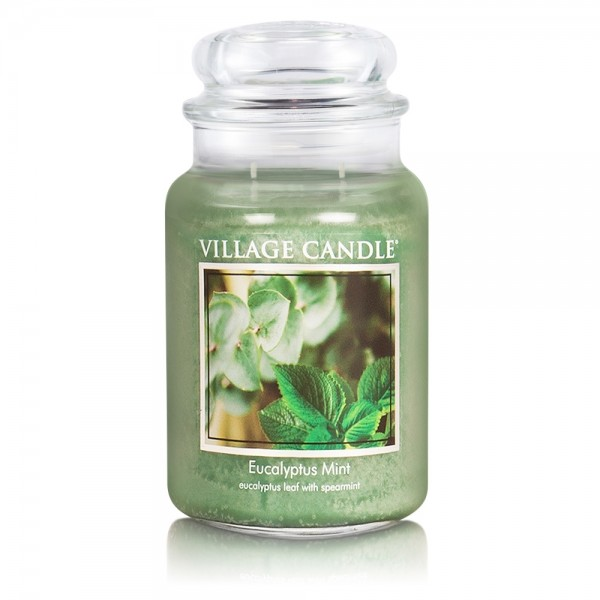 Eucalyptus Mint 26 oz Glas (2-Docht) Village Candl
