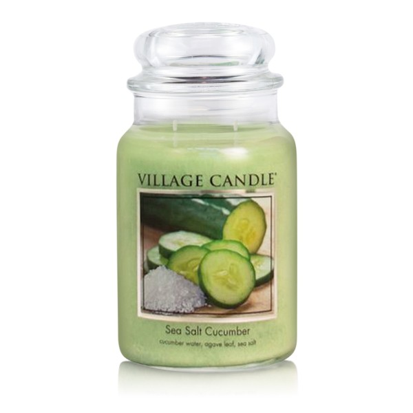Sea Salt Cucumber 26oz 2-Docht Village Candle