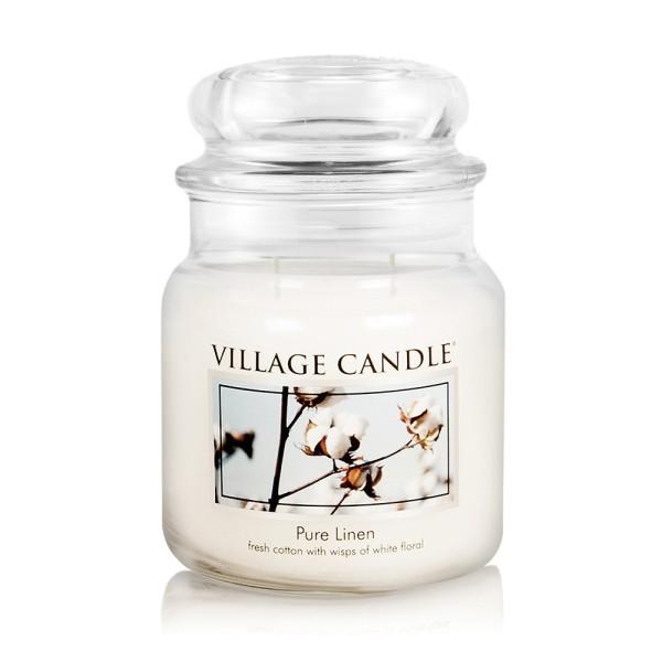 Pure Linen 16 oz Glas (2-Docht) Village Candle