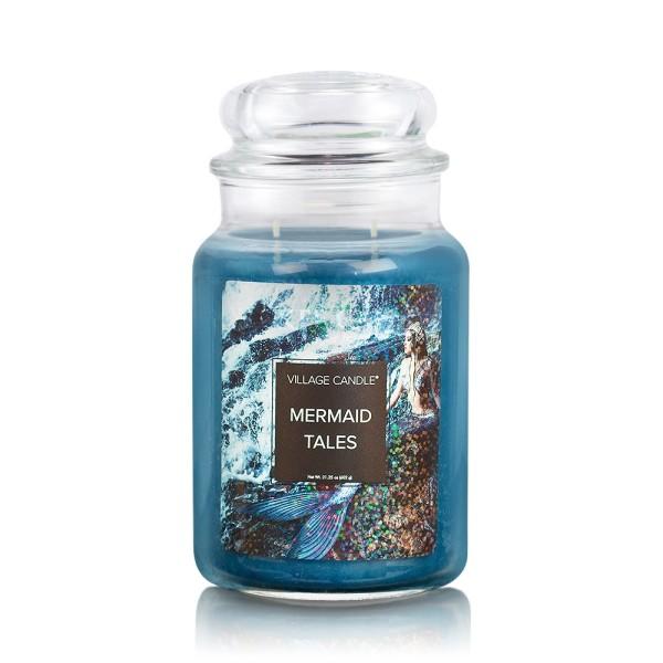 Mermaid Tales 26 oz Glas (2-Docht) Village Candle