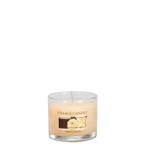 Creamy Vanilla Mini Glas Village Candle