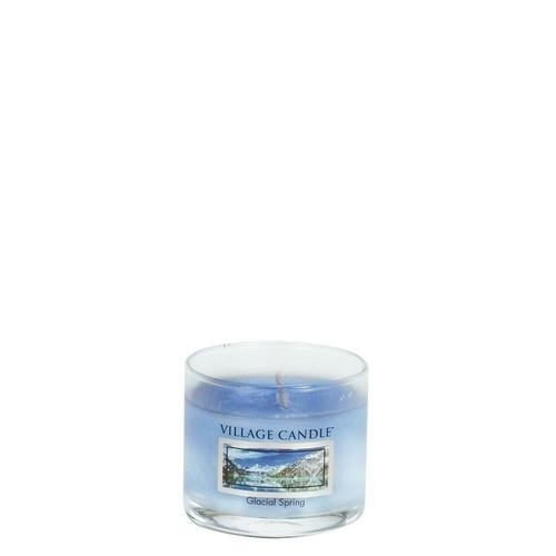 Glacial Spring Mini Glas Village Candle
