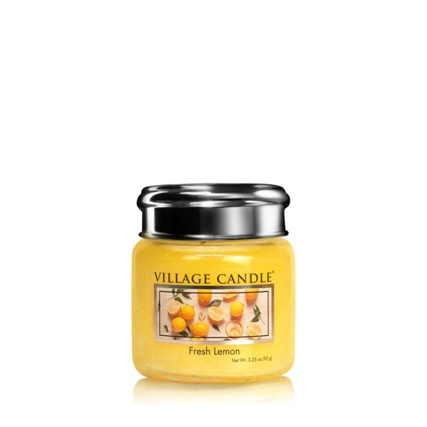 Fresh Lemon 3.75 oz Glas Village Candle