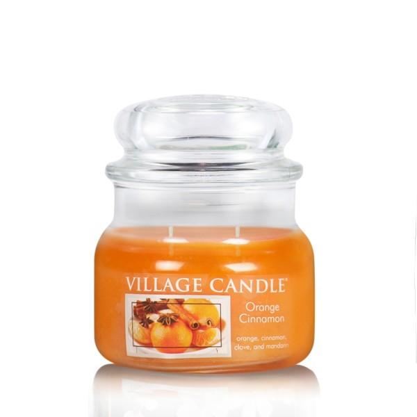 Orange & Cinnamon 11 oz Glas (2-Docht) Village Can