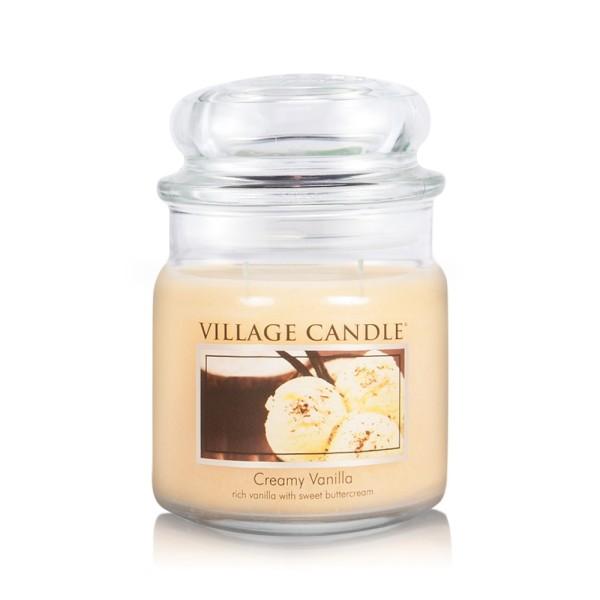 Creamy Vanilla 16 oz Glas (2-Docht) Village Candle