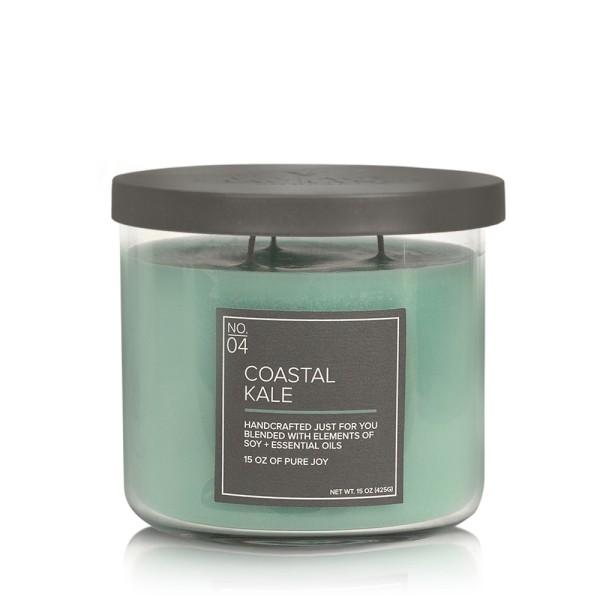 Coastal Kale 17 OZ Glas Soja Kerze VC (3-Docht)