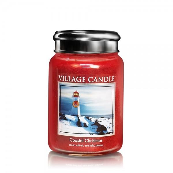 Coastal Christmas 26 oz Glas (2-Docht) Village Can