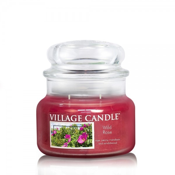 Wild Rose 11 oz Glas (2-Docht) Village Candle