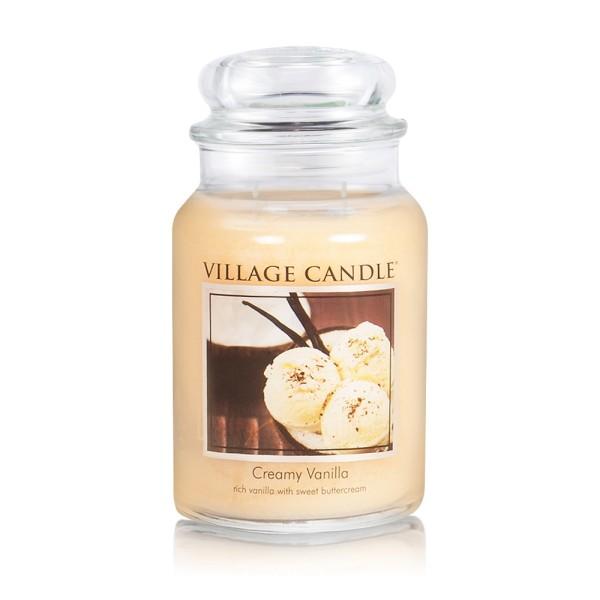 Creamy Vanilla 26 oz Glas (2-Docht) Village Candle