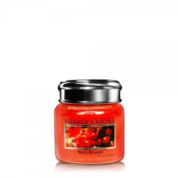 Berry Blossom 3.75 oz Glas Village Candle
