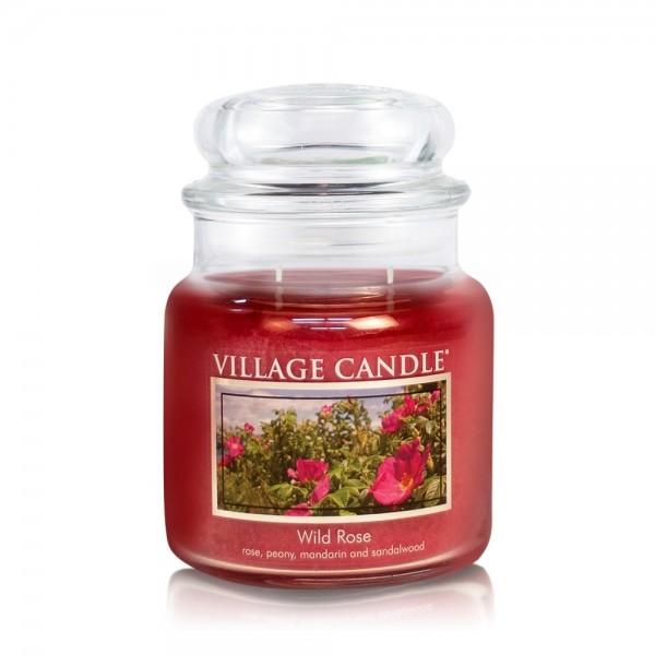 Wild Rose 16 oz Glas (2-Docht) Village Candle