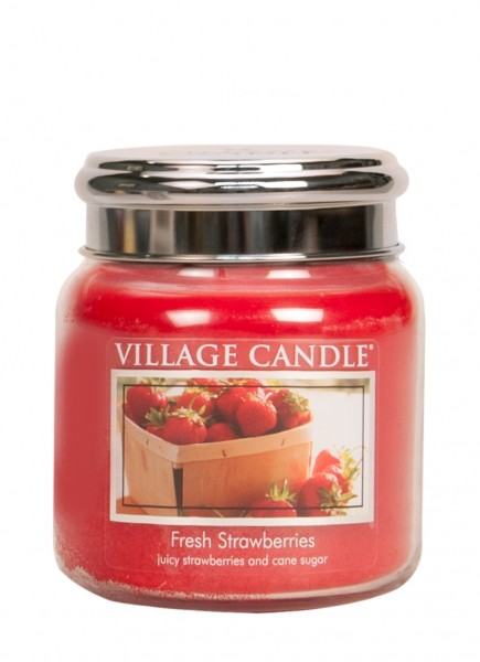 Fresh Strawberries 16 oz Glas (2-Docht)