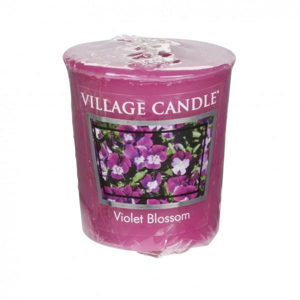 Violet Blossom Votivkerze