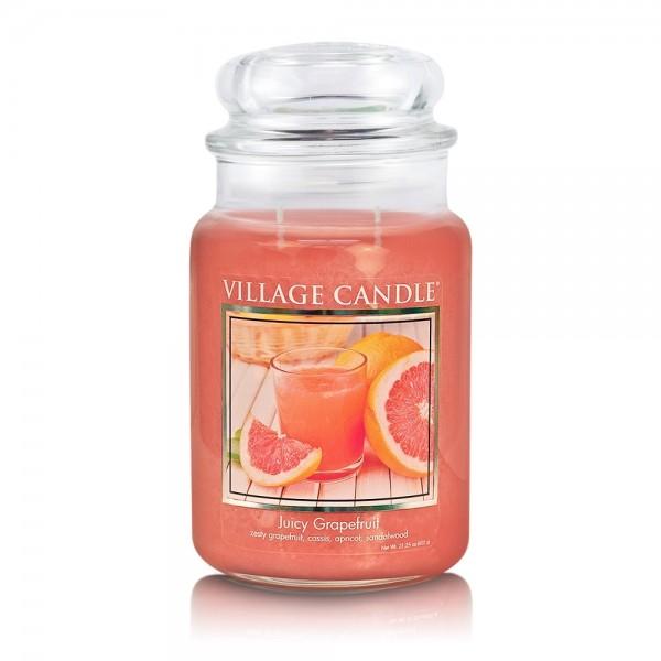 Juicy Grapefruit 26 oz Glas (2-Docht) Village Cand