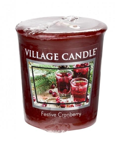 Festive Cranberry Votivkerzen Village Candle