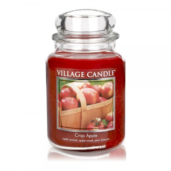 Crisp Apple 26 oz Glas (2-Docht) Village Candle