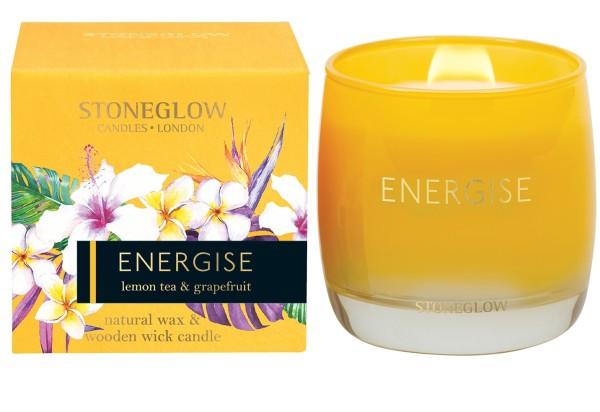 Energise lemon tea & grapefruit Kerze 210g