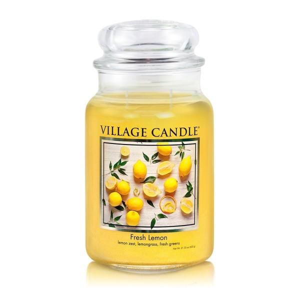 Fresh Lemon 26 oz Glas (2-Docht) Village Candle
