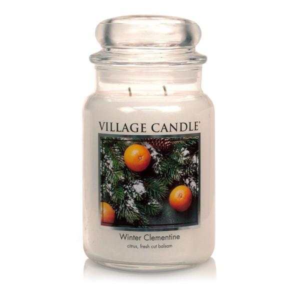 Winter Clementine 26 oz Glas (2-Docht) Village Can