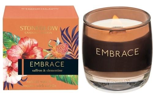 Embrace Saffron & Clementine Woods Kerze