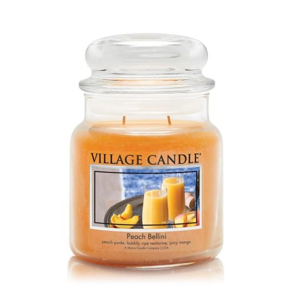 Peach Bellini 16 oz Glas (2-Docht) Village Cand