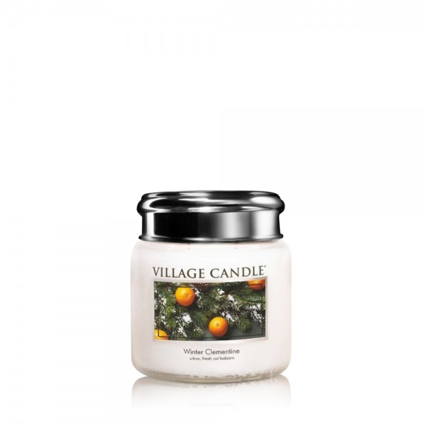 Winter Clementine 3.75 oz Glas Village Candle