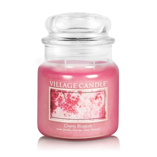 Cherry Blossom 16oz 2-Docht Village Candle